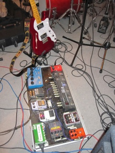 Armins guitar in rehearsal room - recording session - January 2015