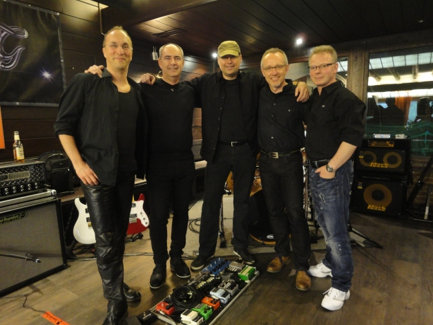 Just before our Premiere in the Soccer Arena in Hürth, Germany.