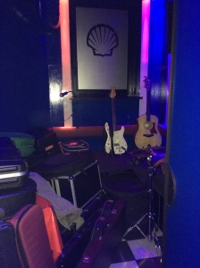 Backstage area in the Blue Shell Cologne