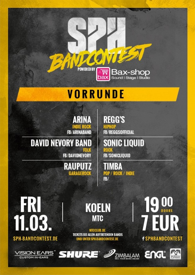SPH BANDCONTEST - March 11th, 2016 - MTC Cologne - 19:00