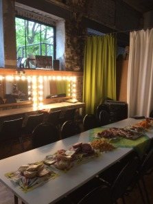 Backstage and the dinner is prepared :-) - the fridge is also filled